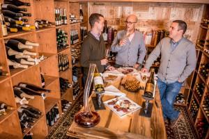 The Little Nell wine team wine cellar