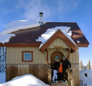 A late afternoon lunch at Aspen Mountain Powder Tours' private wine cabin.