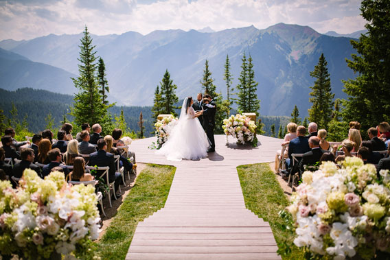 Aspen Mountain Wedding Deck