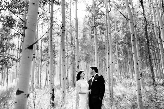 Aspen Trees Wedding Photo