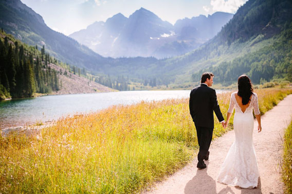 Maroon Bells Wedding Photo