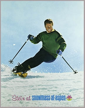 Stein Eriksen skiing Snowmass in the 60s.