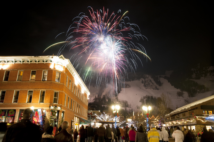 fireworks over Aspen