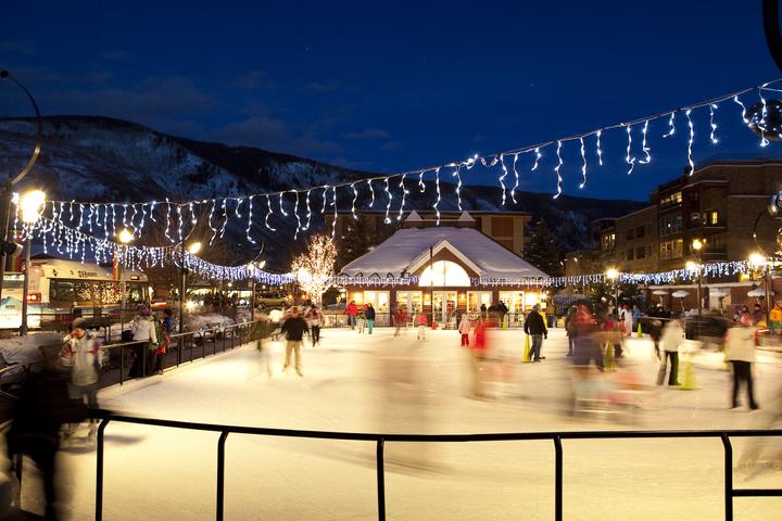 Ice skating in Aspen