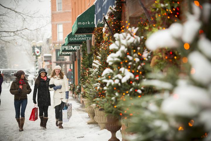 shopping over Christmas