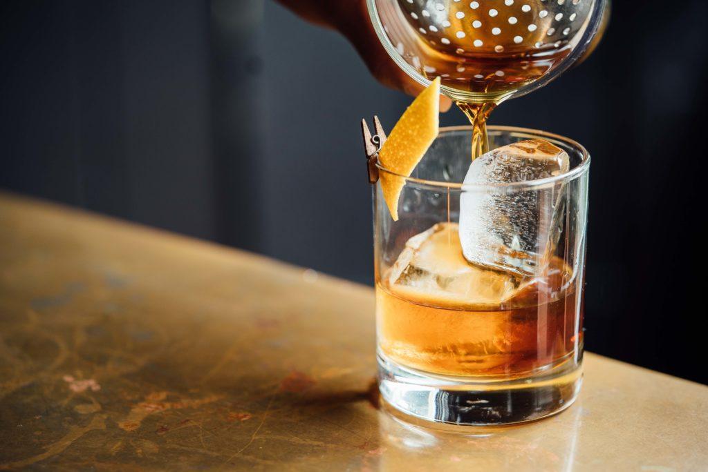 Apres ski cocktail with whiskey