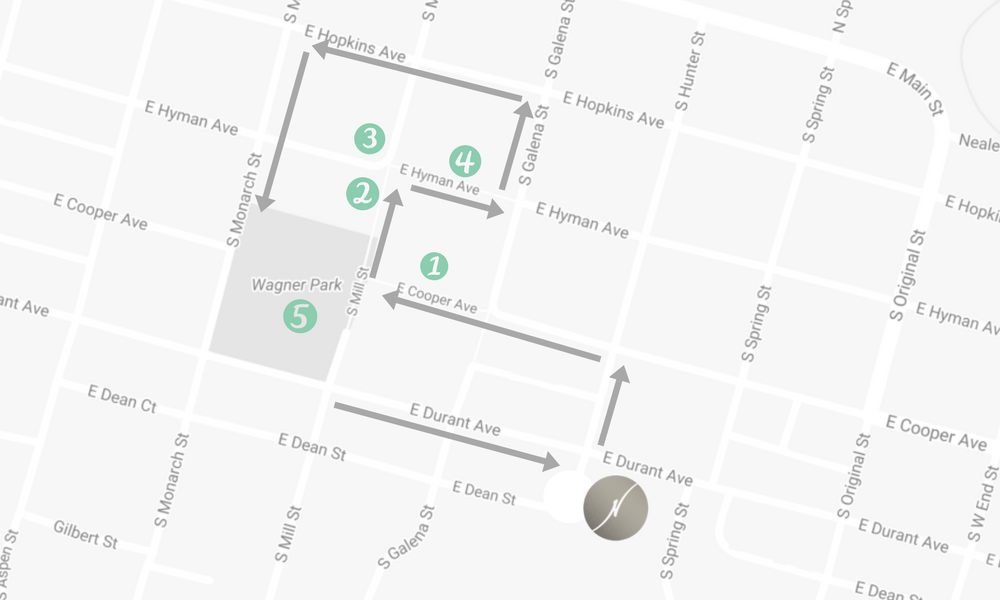 Aspen Walking Tour Map
