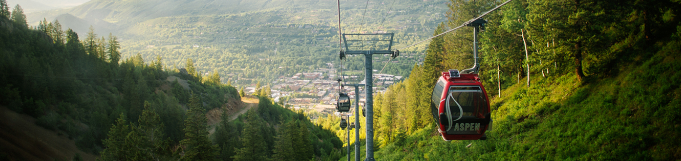 aspen mountain gondola in summer
