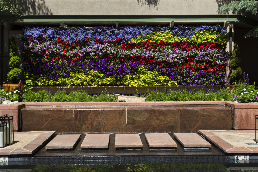 The Living Wall at The Little Nell in Aspen